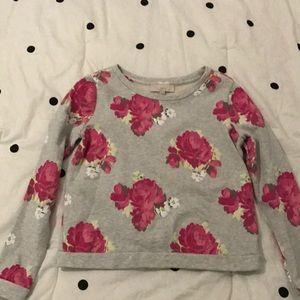 Loft Floral Sweatshirt-size small
